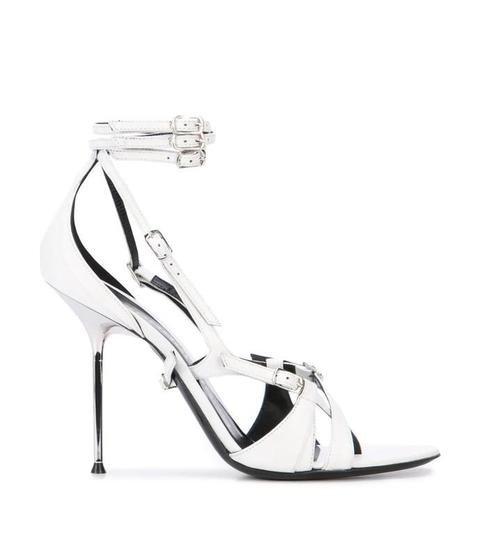 triple buckle sandals