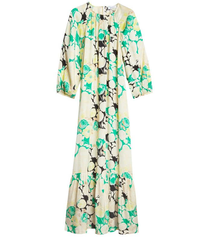 wanda dress in spring green