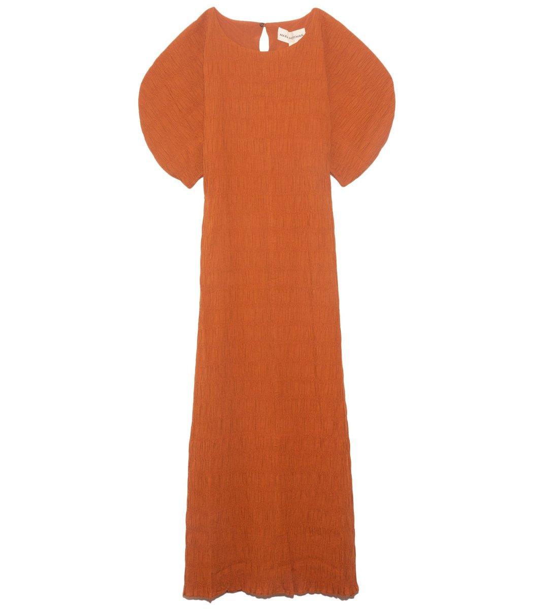 Mara Hoffman Aranza Dress in Rust