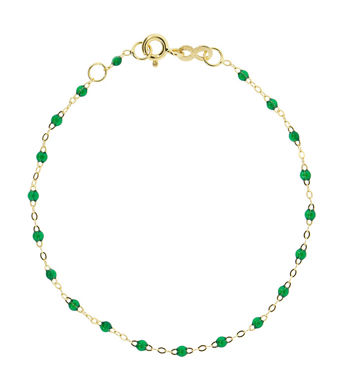 emerald bead classic gigi bracelet