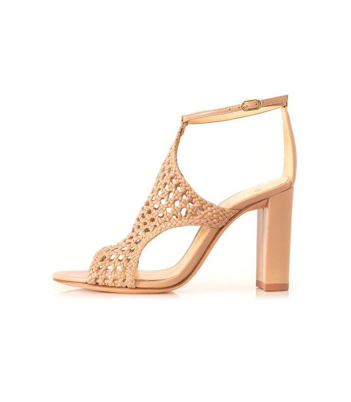 cadie high heel sandal in marble