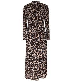 alham dress in wild leopard