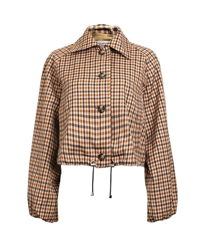 blair jacket in nougat check
