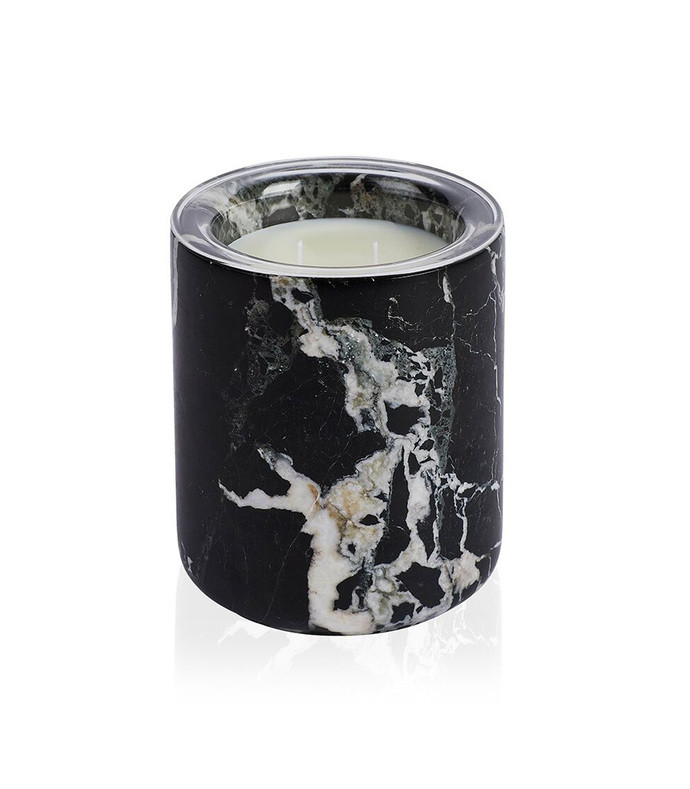 marquina marble candle vessel