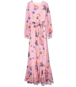 dianora georgette dress in pink