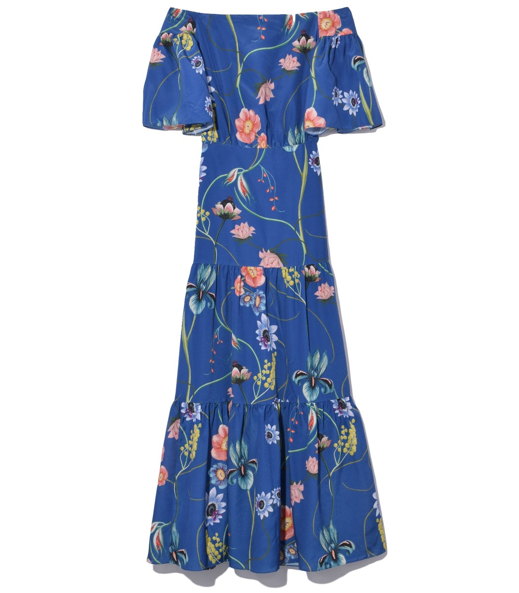 Borgo De Nor Emelia Crepe Dress in Blue
