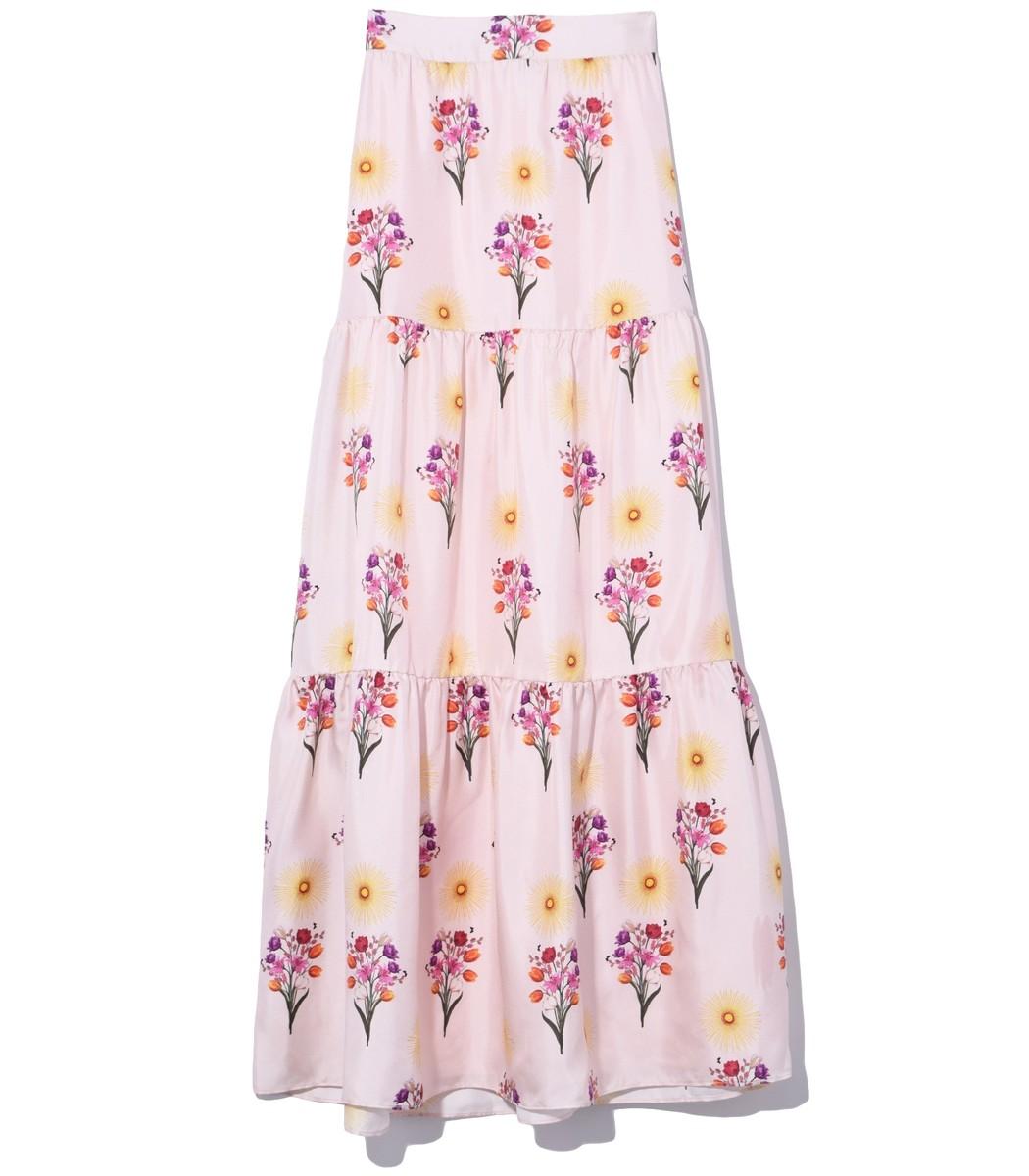 Borgo De Nor Pia Twill Skirt in Blush