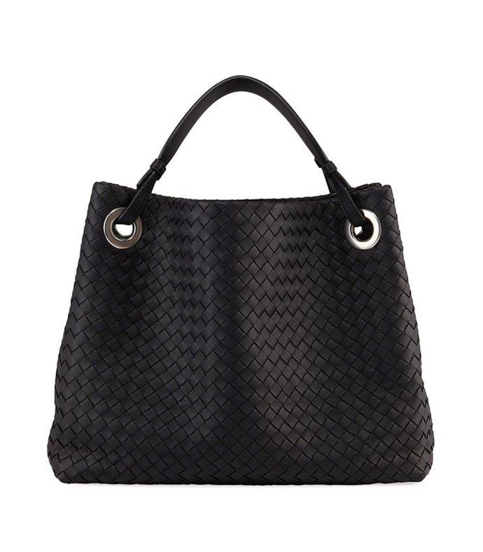 garda large woven double strap shoulder bag