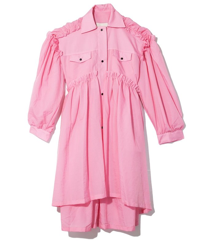 mable coat dress in pink
