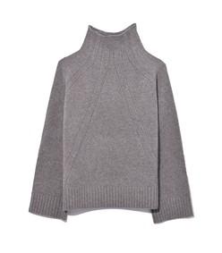 aleyah sweater in medium grey melange