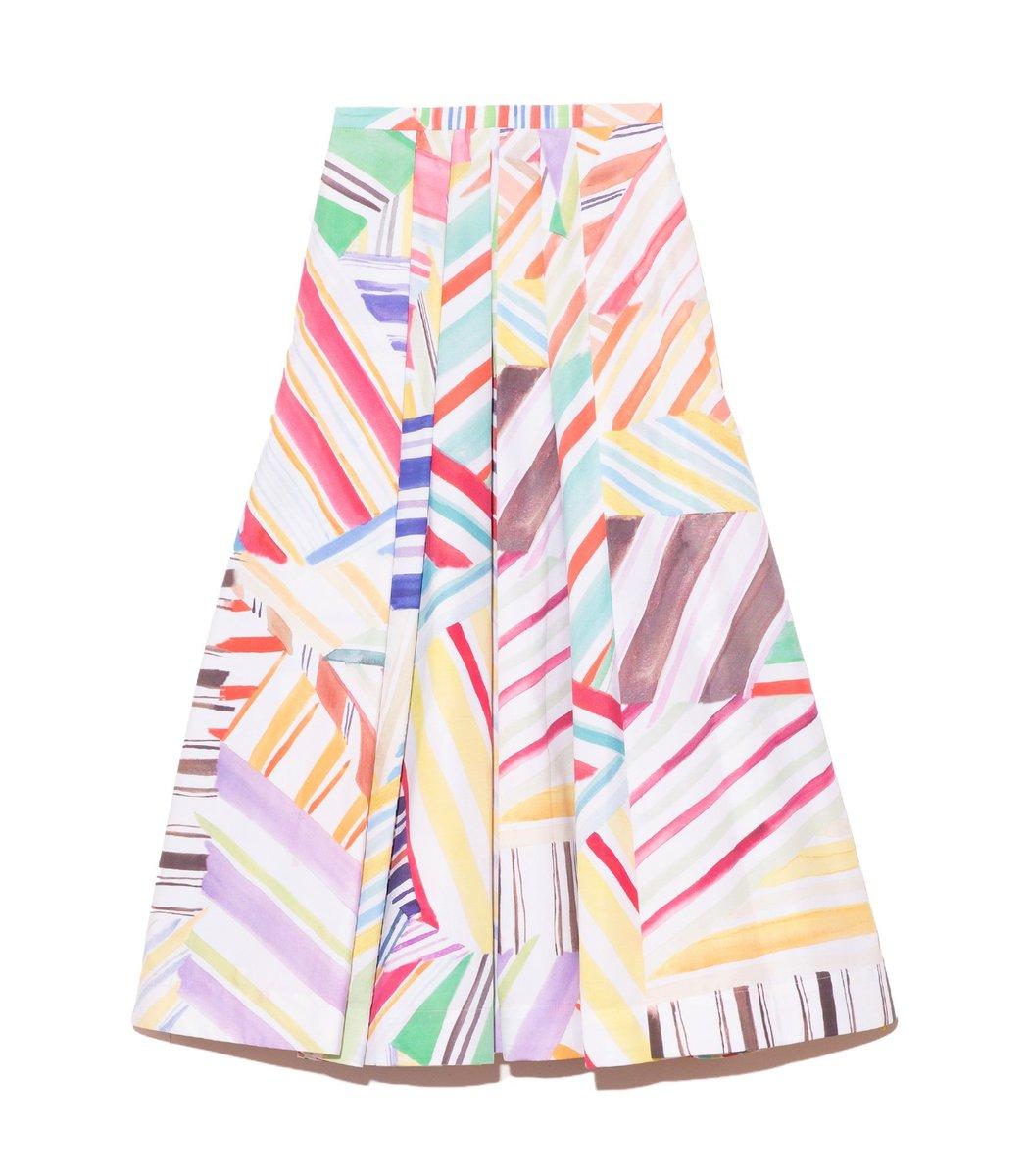 Rosie Assoulin Pleated Skirt in Rainbow