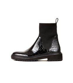 bridget chelsea combat boot in black