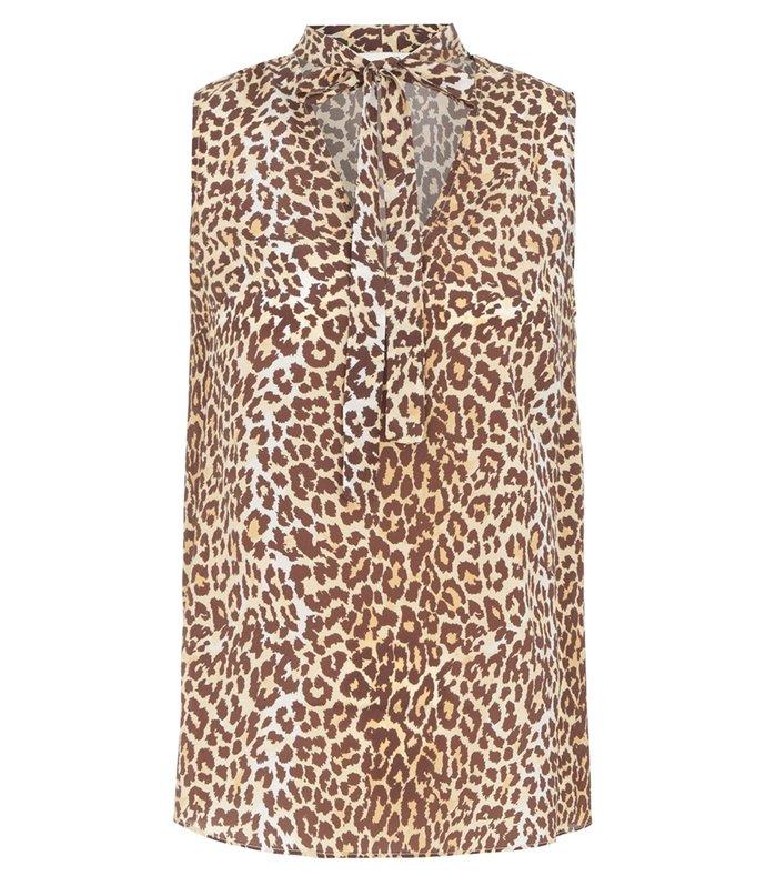 brightside sleeveless blouse in leopard