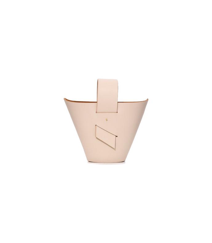 lamb/tan amphora bag