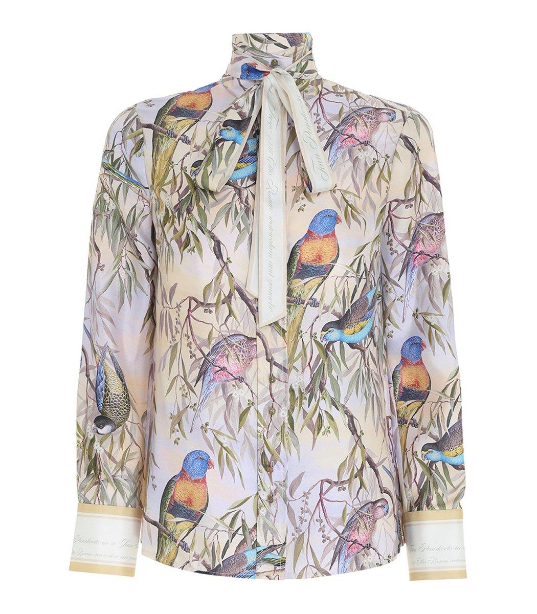 Zimmermann Candescent Shirt in Parakeets
