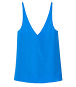 blue silk v-neck cami