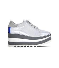 silver/white sneak-elyse sneaker