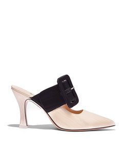 chloe mule in cream/black