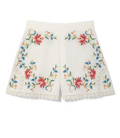 multicolor embroidery laelia cross stitch short