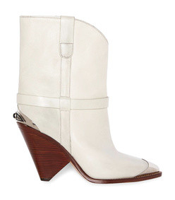 white chalk lamsy boots