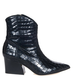 dylan croc embossed boot