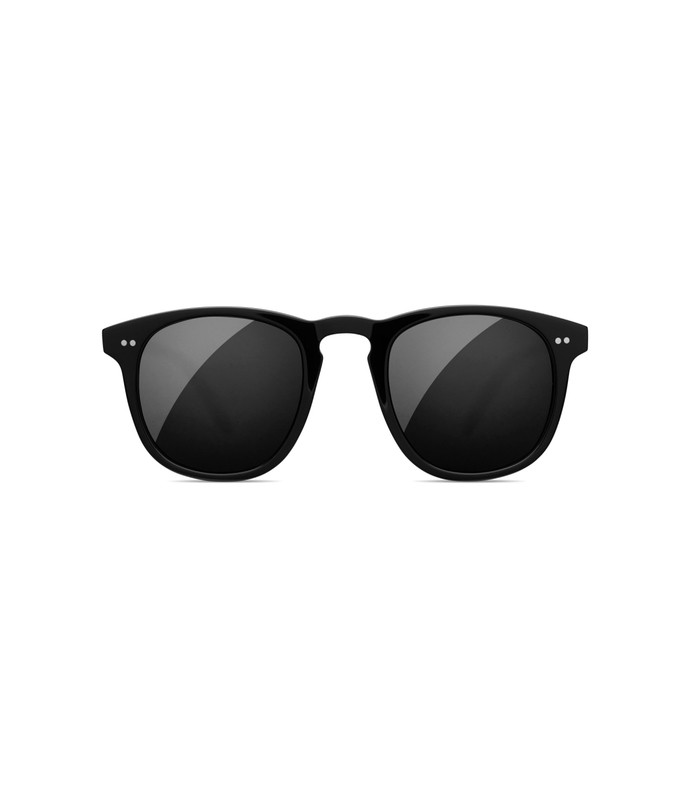 black sunglasses in berry
