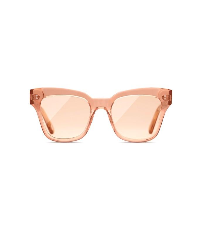 Shop Bazaar x 005 Clear Sunglasses in Peach