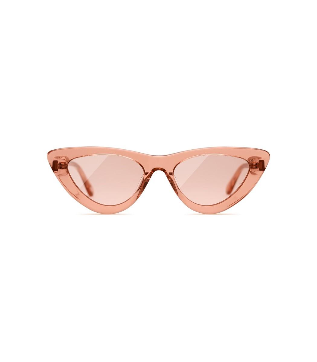 Chimi Sunglasses #006 Clear Sunglasses in Peach