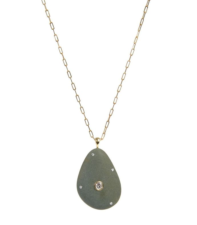 chipper stone and diamond necklace