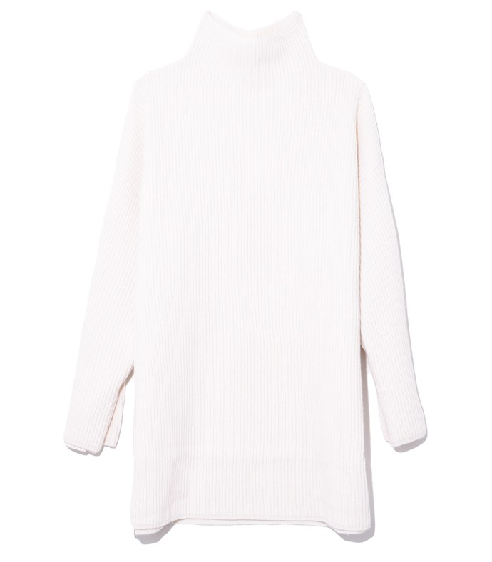 buttoned cuff sweater in ivory