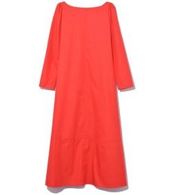 vermillion long sleeve a line midi dress