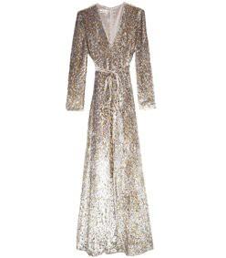 lurex velvet maxi dress in gold