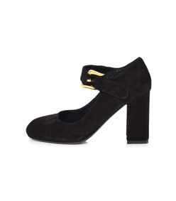 black mary jane pump