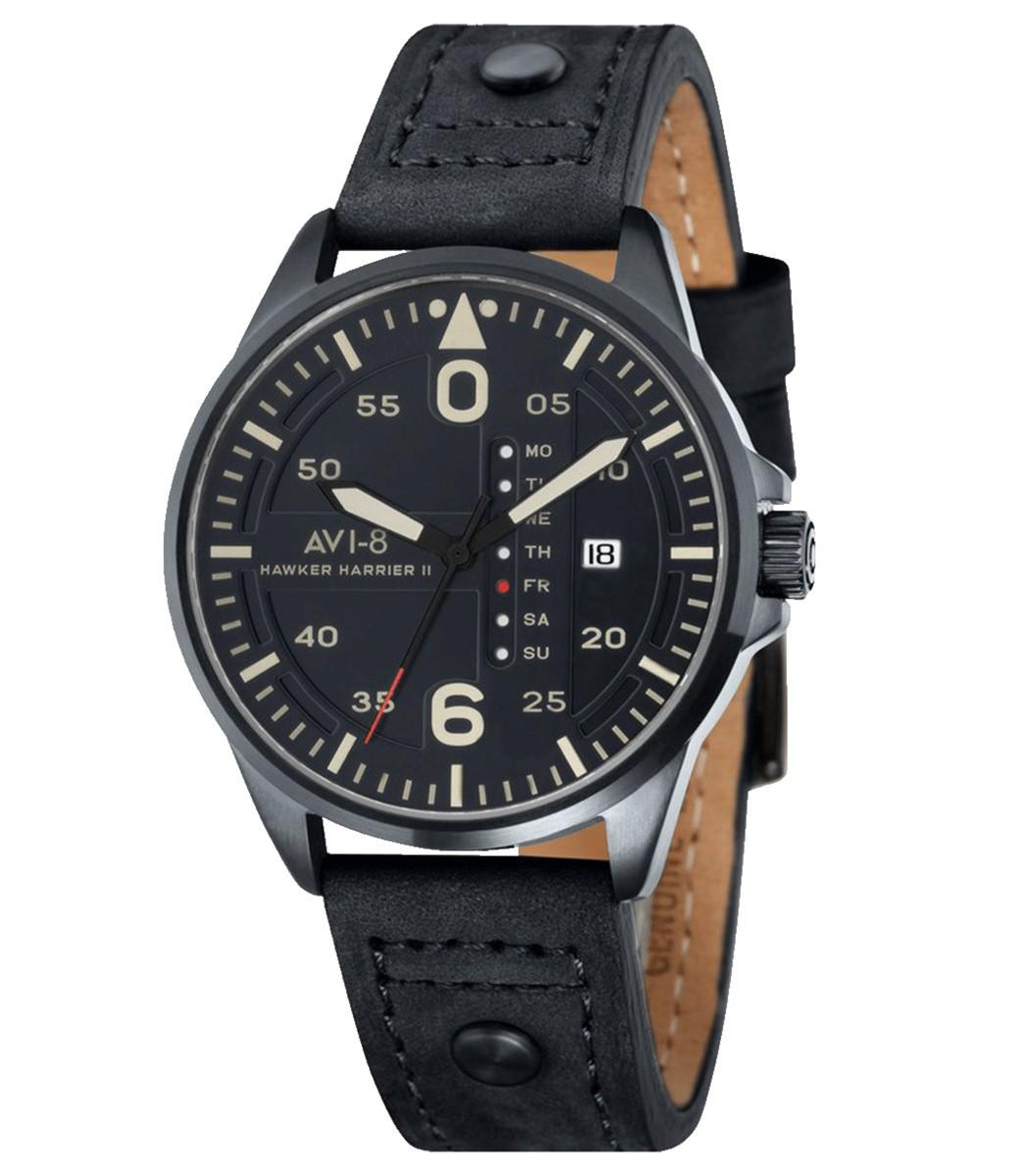 Avi-8 Black Hawker Harrier II Watch