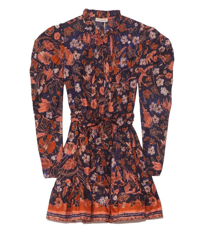 naima dress in midnight floral
