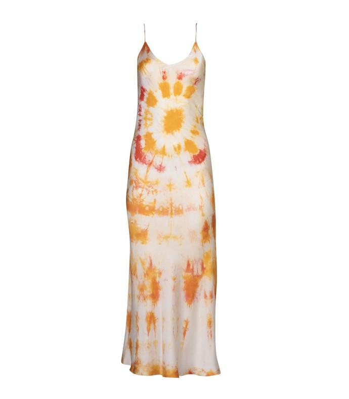orange bullseye dress