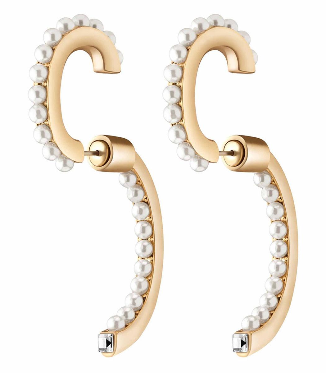 Demarson Earrings PEARL LUNA EARRING SET