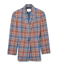 charismatic check jacket in plum prince of wales