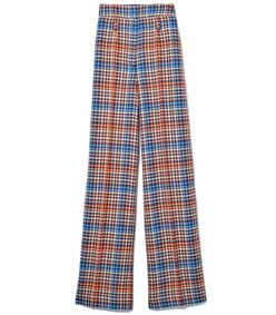 charismatic check pants in plum prince of wales