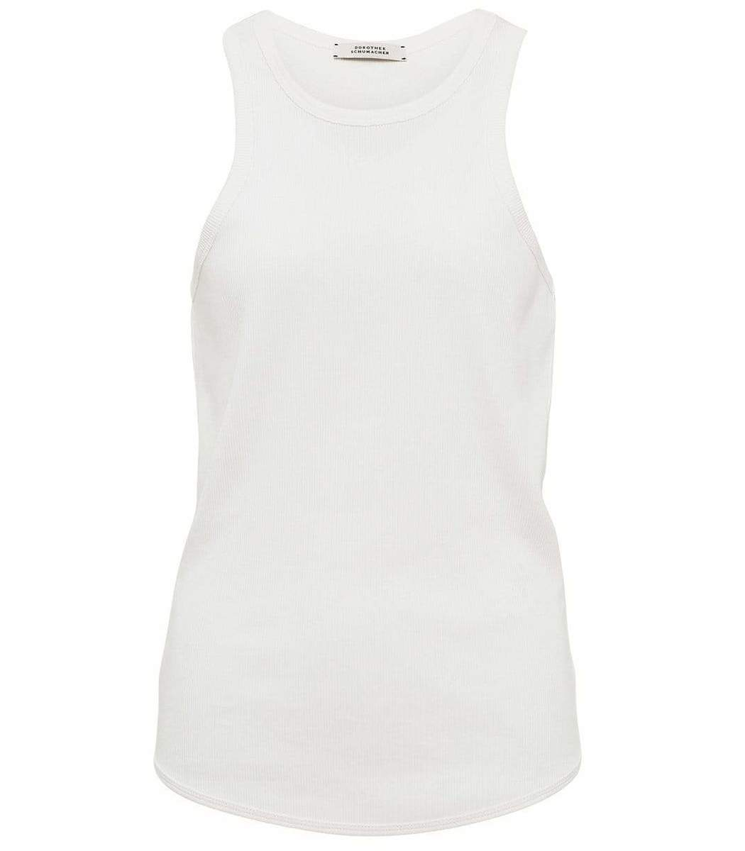 Dorothee Schumacher Tops White Ribbed Seduction Top