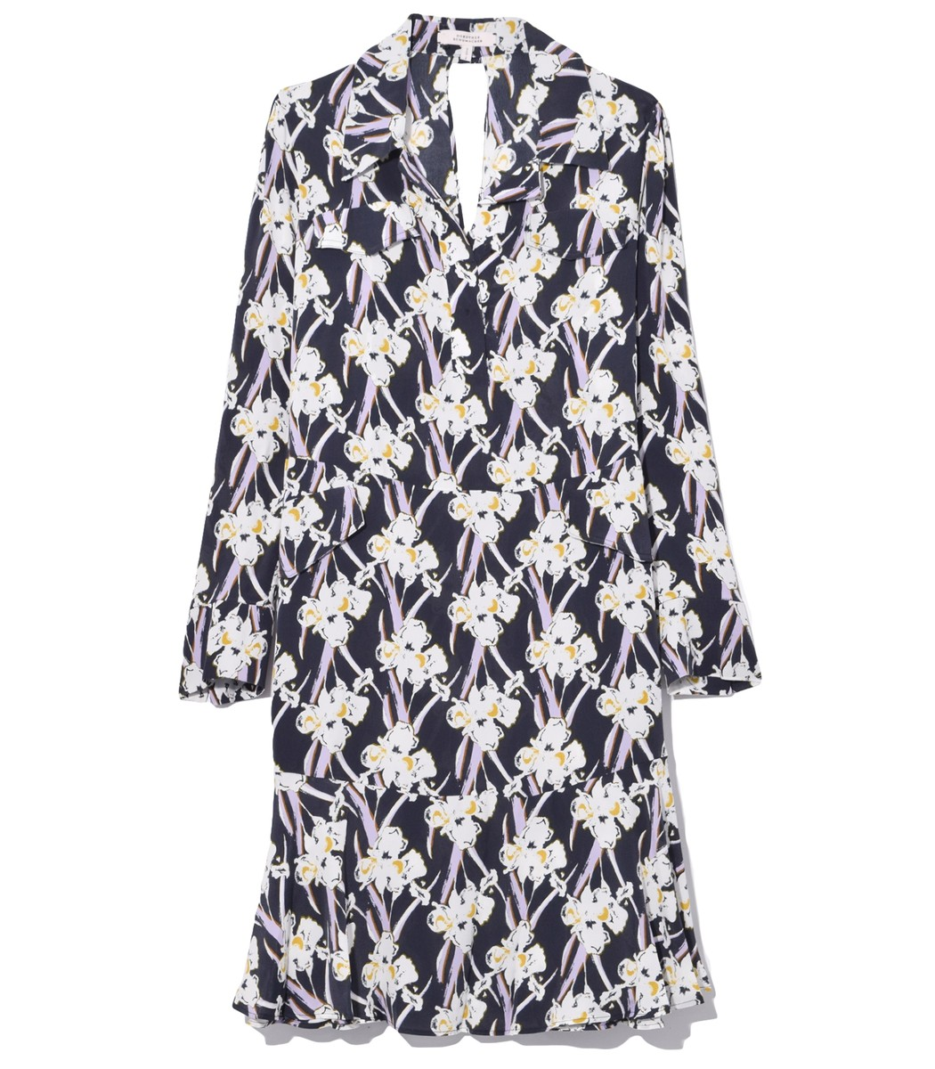 Dorothee Schumacher Dresses Flower Breeze Dress in Dark Blue Orchid