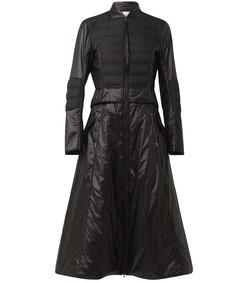hightech softness coat in pure black