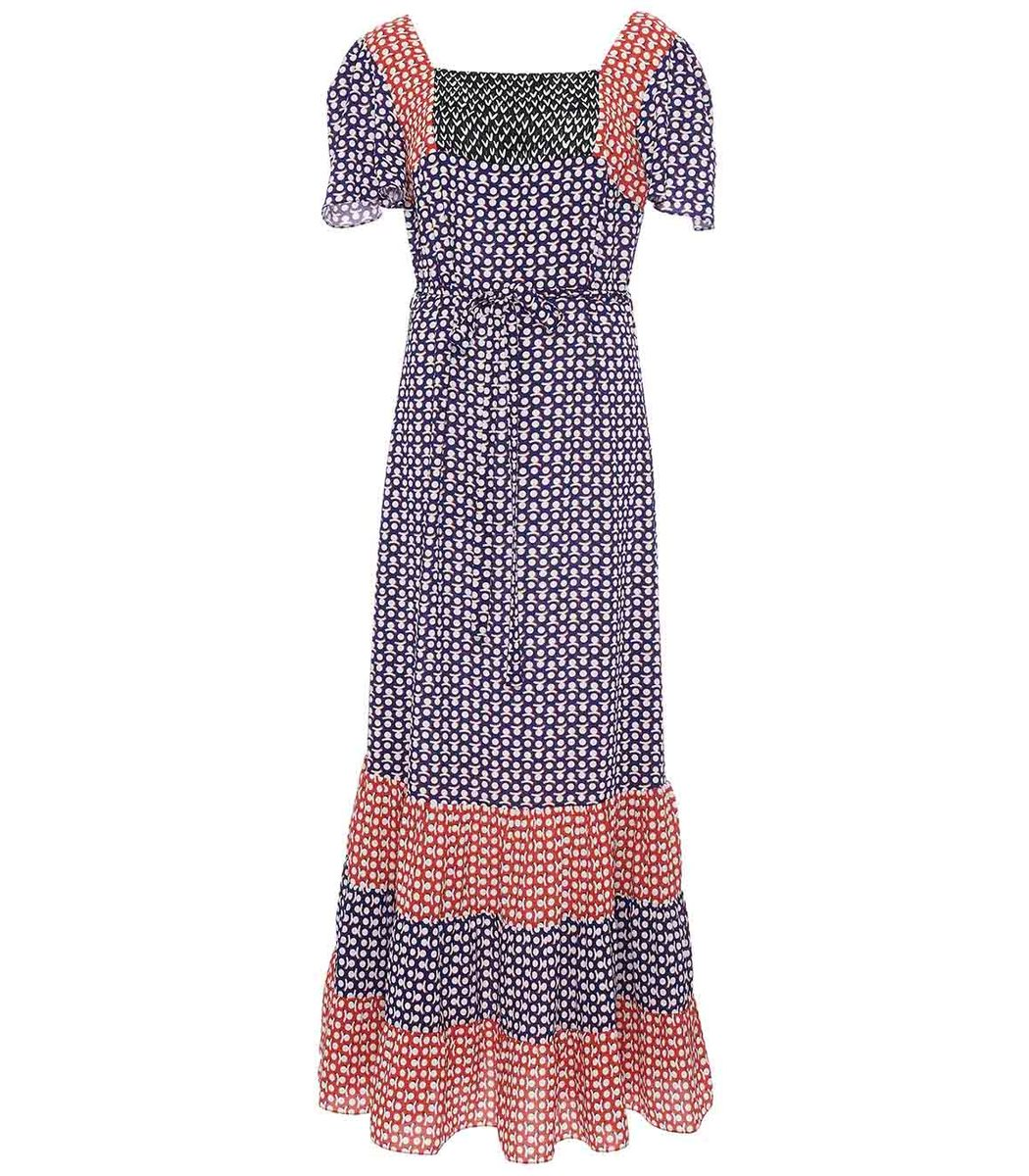 DURO OLOWU Multicolor Novelty Print Patterned Dress