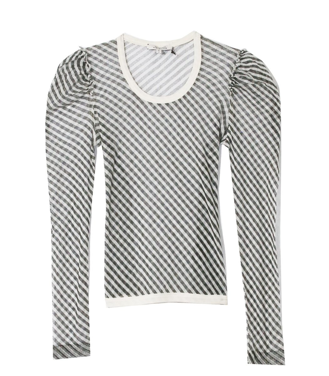 Dorothee Schumacher Transparent Coolness Shirt in Beige Black Stripes TS