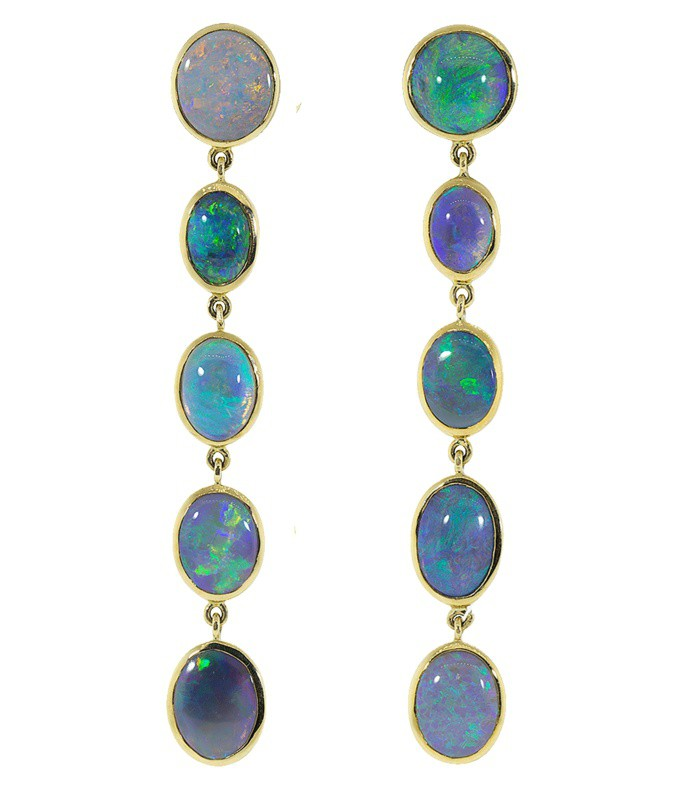 mixed opal drop earrings