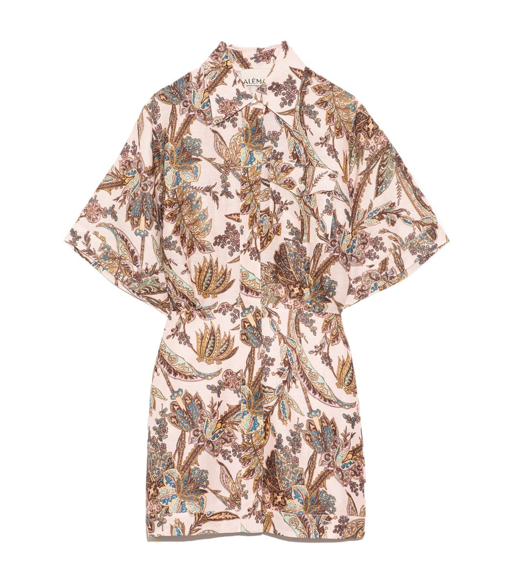 Alemais Estella Shirt Dress In Blush In Multi