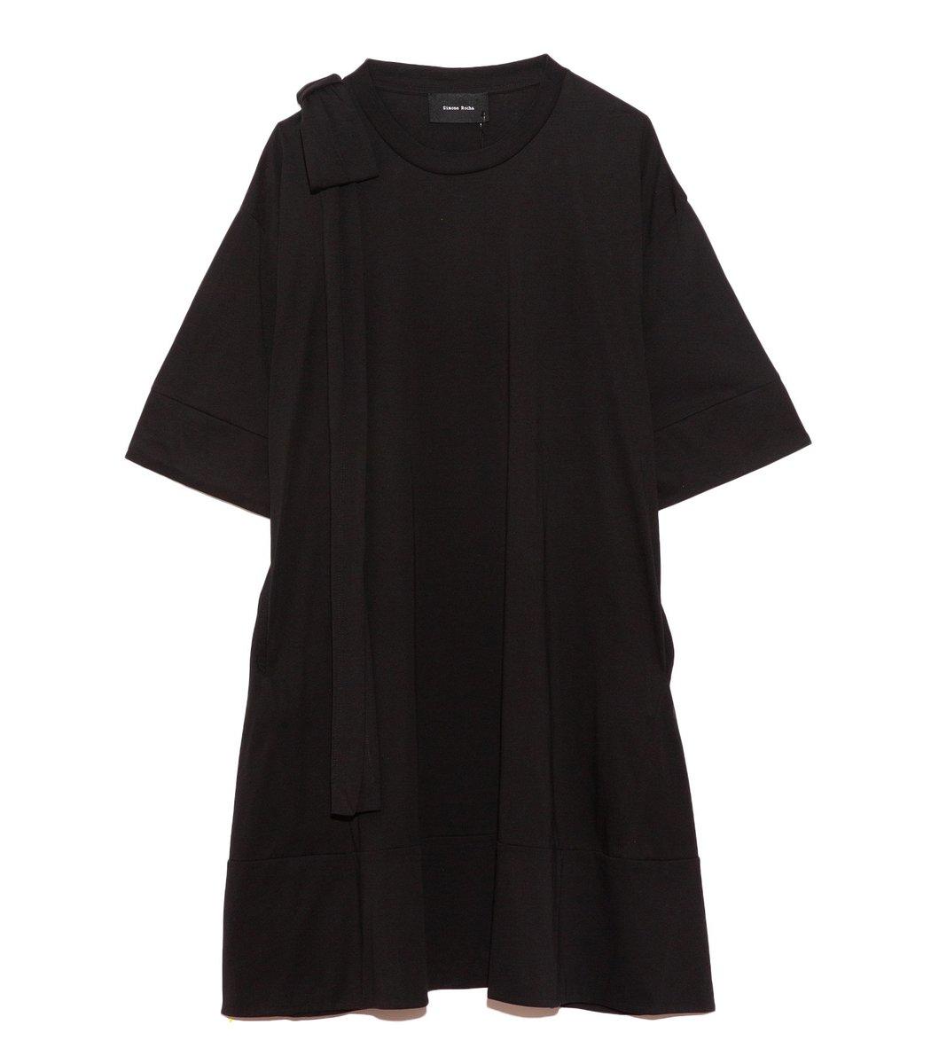 Simone Rocha Shoulder Bow Tunic Dress in Black