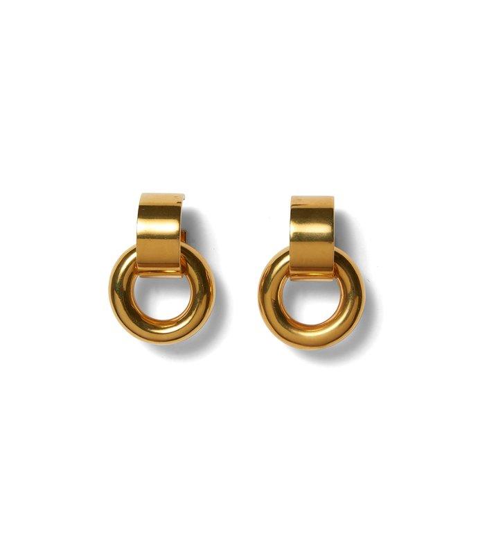 piazza earrings in gold