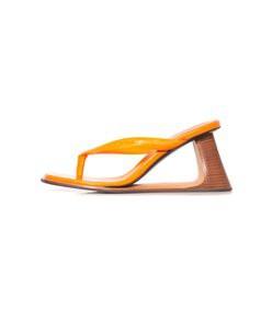 wedge thong sandal in nectarine