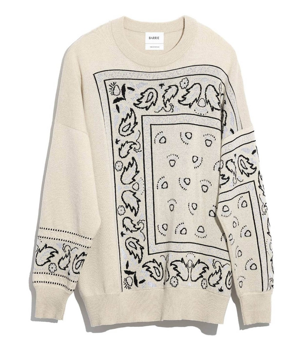 Barrie Bandana Print Sweater